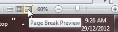 Page Break Preview Icon