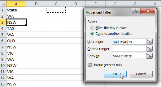 Advanced Filter Dialog