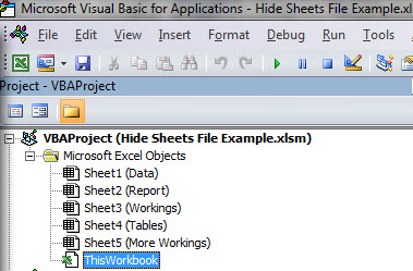 Hiding sheets when opening an Excel File | A4 Accounting