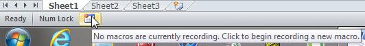 Record Macro button