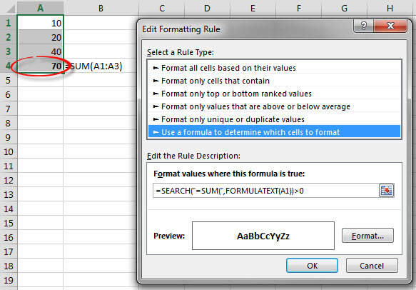 FORMULATEXT Conditional Format