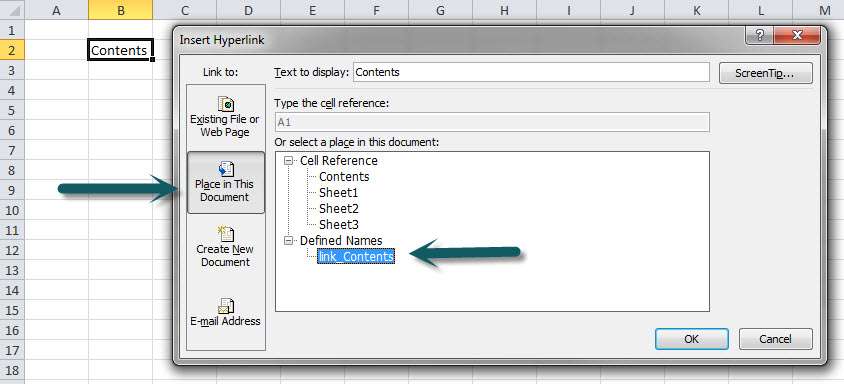 Create Excel Hyperlink