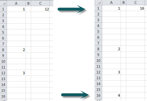 Excel – Last Used Row In A Column | A4 Accounting