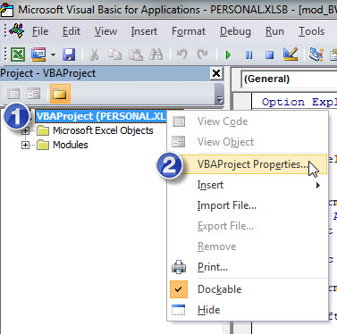 Protecting Your Excel VBA Macro Code | A4 Accounting