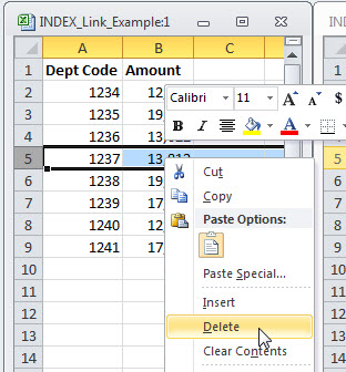 Excel Links and Deleted and Inserted Rows | A4 Accounting