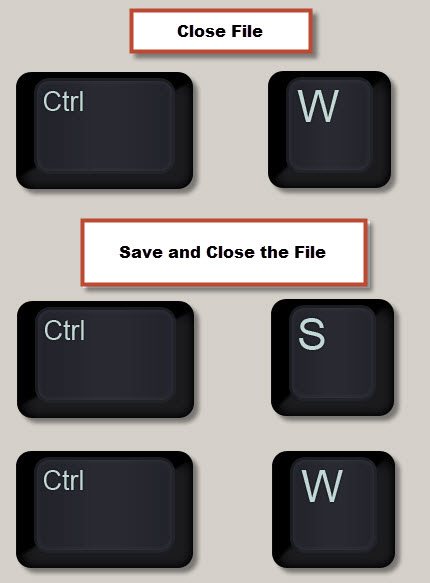 Save and Close
