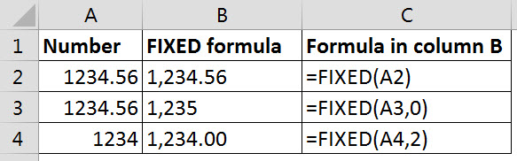 FIXED function examples