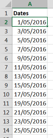 Dates Times example