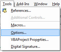 VBA options