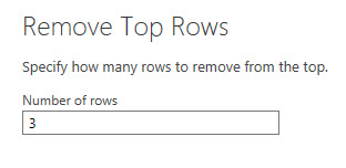 Enter rows to remove