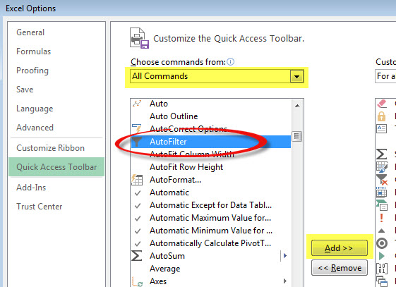 Excel Filter Trick   A4 Accounting