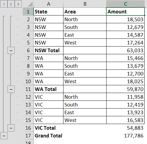 Excel subtotal sort magic a4 accounting if we expand out the selection see image below you can see that while the subtotals have been sorted the individual values have not been sorted ibookread PDF