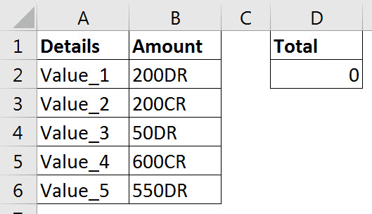 Handling DR and CR at the end of numbers in Excel | A4 Accounting