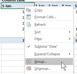 PivotTable Grouping Doesn't Work | A4 Accounting