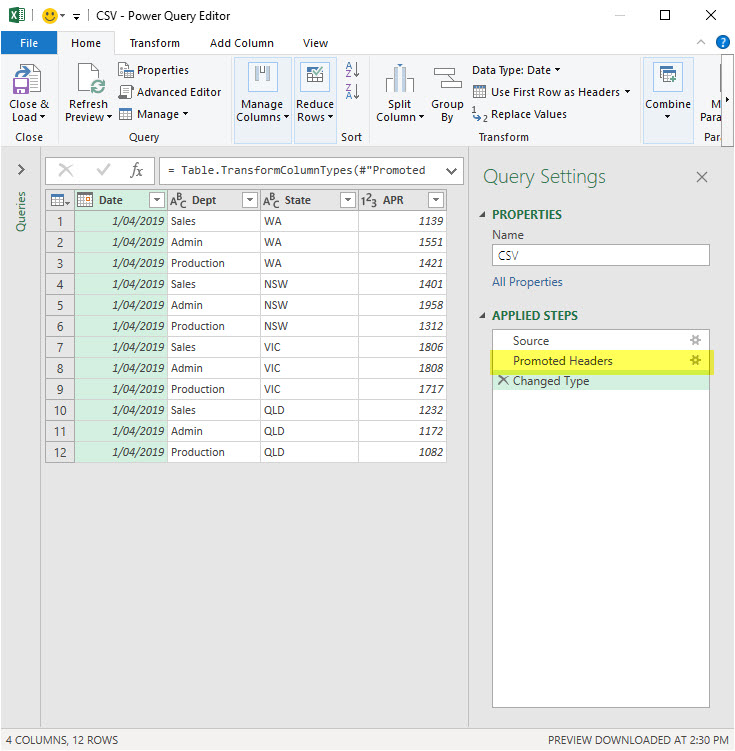Promoting Headers Issue in Power Query | A4 Accounting